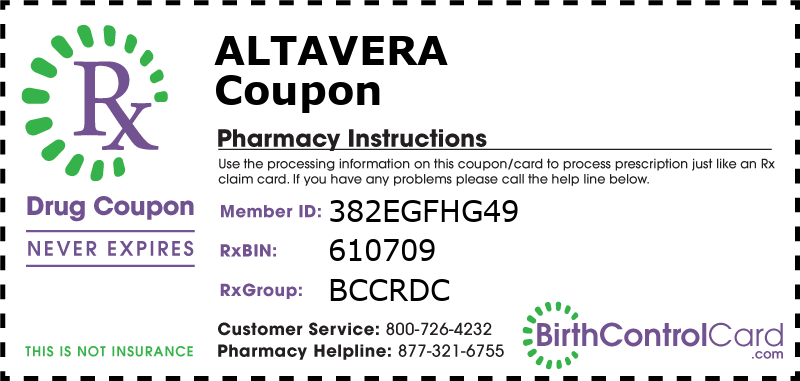 Altavera Prescription Coupon
