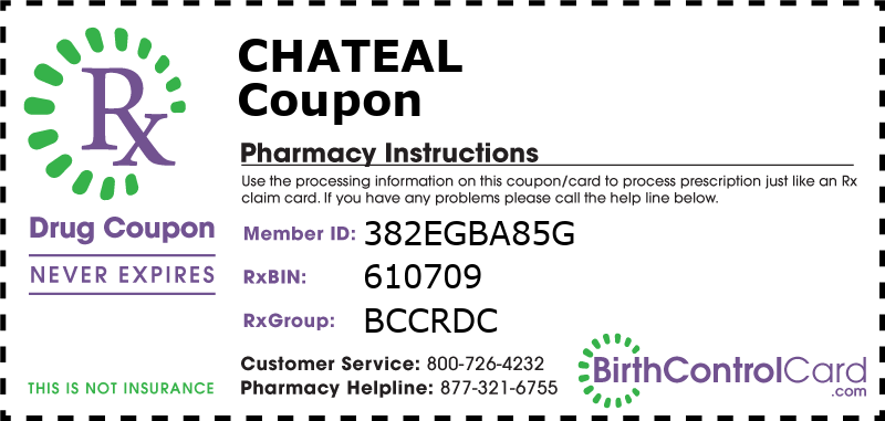 Chateal Prescription Coupon