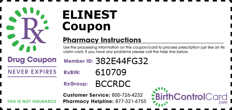 Elinest Prescription Coupon