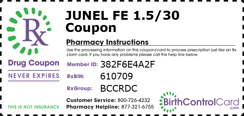 Junel Fe 1.5/30 Prescription Coupon