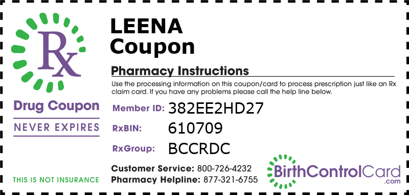 Leena Prescription Coupon