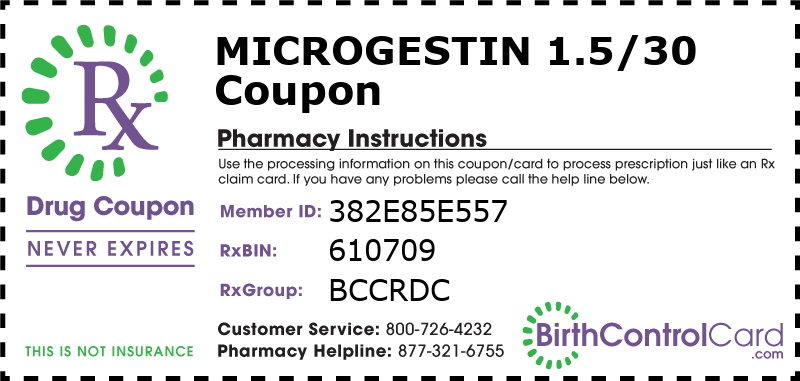 Microgestin 1.5/30 Prescription Coupon