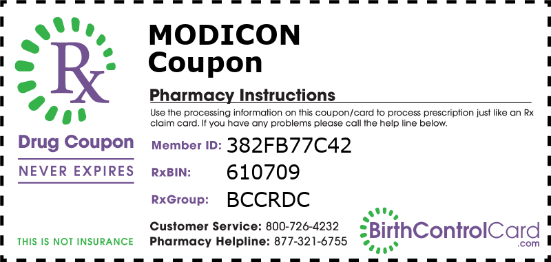 Modicon Prescription Coupon