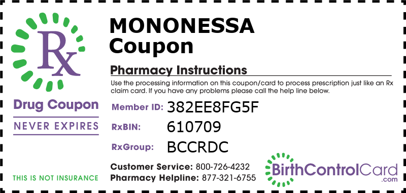 Mononessa Prescription Coupon
