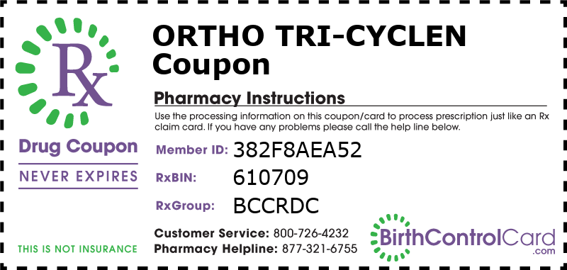 Ortho Tri-Cyclen Prescription Coupon