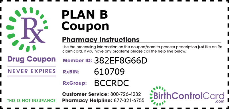 Plan B Prescription Coupon