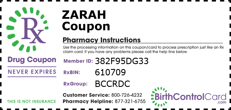 Zarah Prescription Coupon