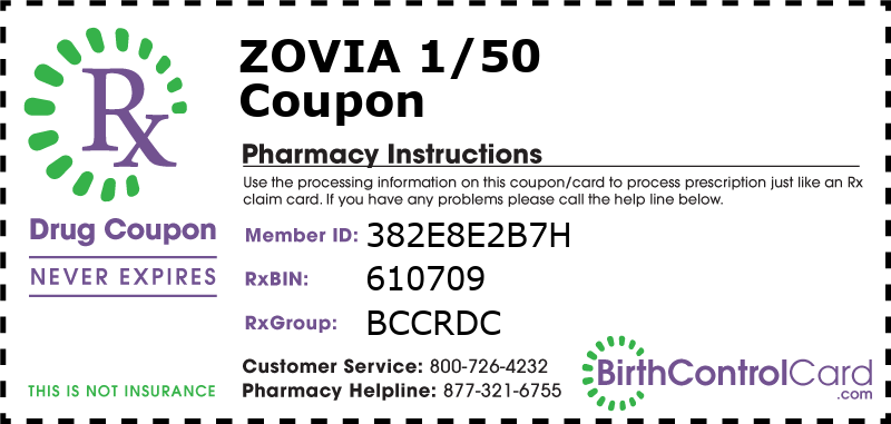 Zovia 1/50 Prescription Coupon